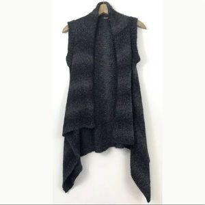 Elie Tahari Alpaca Wool Waterfall Vest Cardigan
